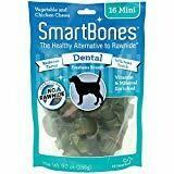 SmartBones Mini Dental Chew Bones Dog Treats 16 pack 7.9 oz (9/18) (A.P8)