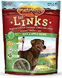 Zuke's Lil Links Healthy Little Sausage Links Dog Treats, Duck & Apple 6 oz (7/19) (T.C8-JD)