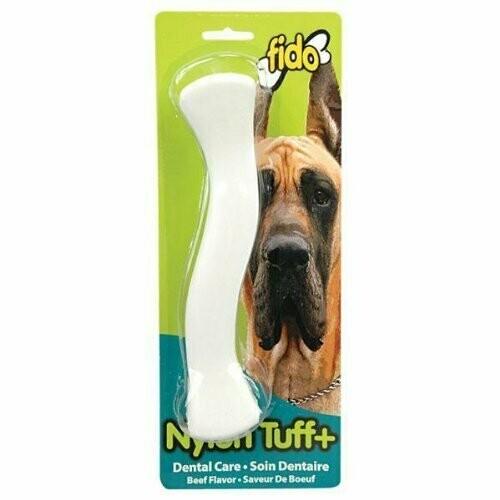 "AMAZON-Fido, Nylon Tuff Plus Dental Dog Bone, Beef Flavored, Large 8-3/4"" (T.G5/AM)"
