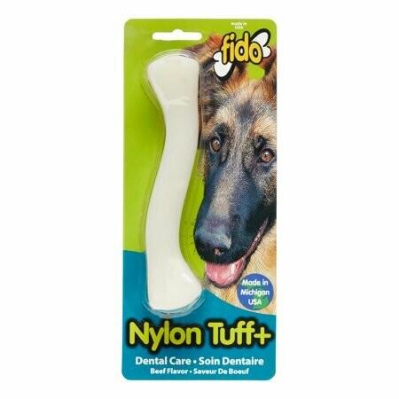 "Fido, Nylon Tuff Plus Dental Bone, beef Flavored, Medium 6-1/4"" (T.C7)"