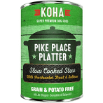 KOHA Grain-Free Pike Place Platter Slow Cooked Stew with Trout & Salmon Can Dog food 12.7 12 count (8/20) (A.O4)