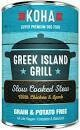 KOHA GREEK ISLAND GRILL SLOW COOKED STEW GRAIN-FREE CHICKEN & LAMB WET DOG FOOD 13 OZ 12 Count (8/20) (A.J3)