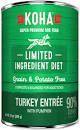 KOHA Limited Ingredient Diet Grain-Free Turkey Entree with Pumpkin Wet Dog Food 12.7 oz 12 count (9/20) (A.O4)