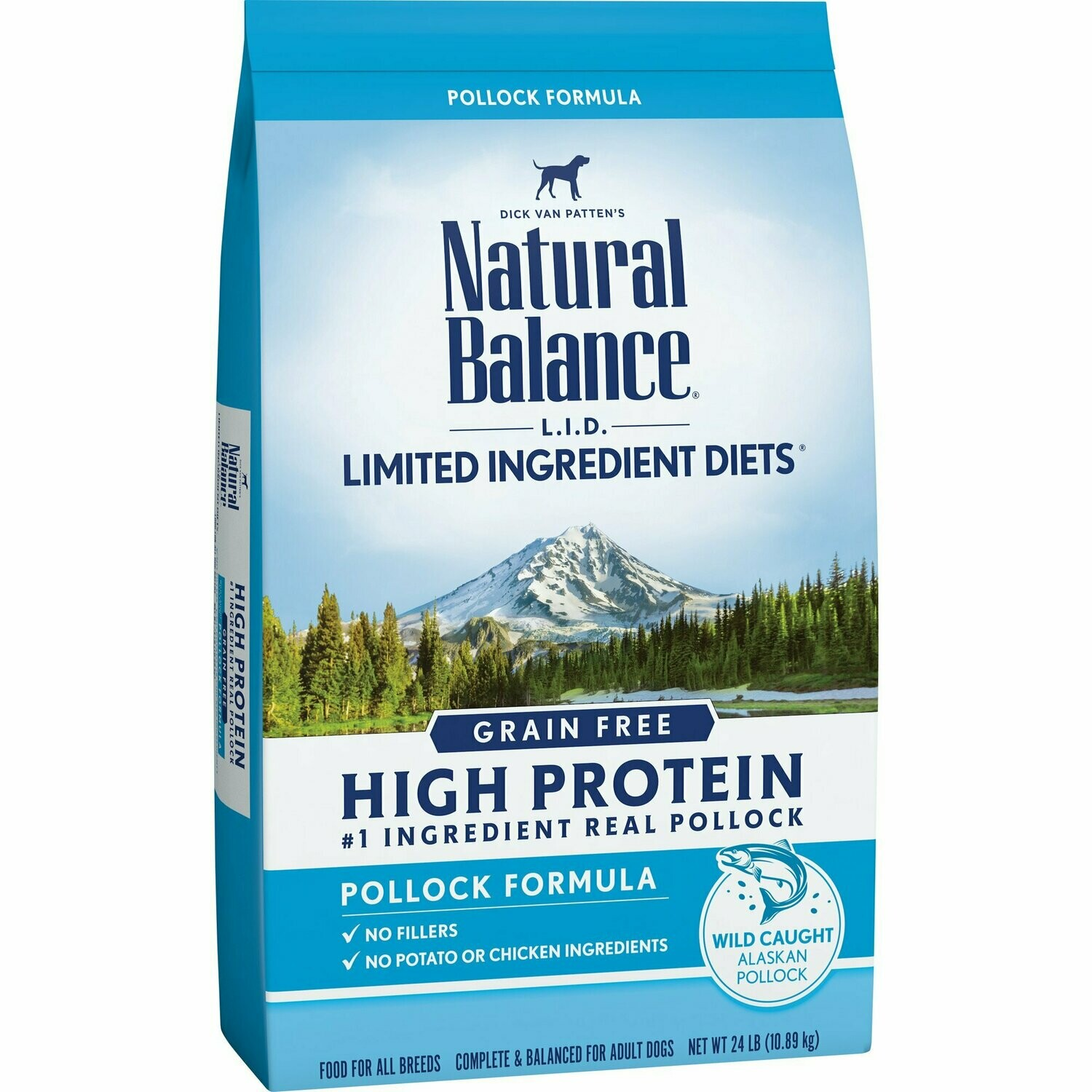 Natural Balance Limited Ingredient Diets High Protein Grain Free Pollock Formula 24 lb (9/19) (A.R4)