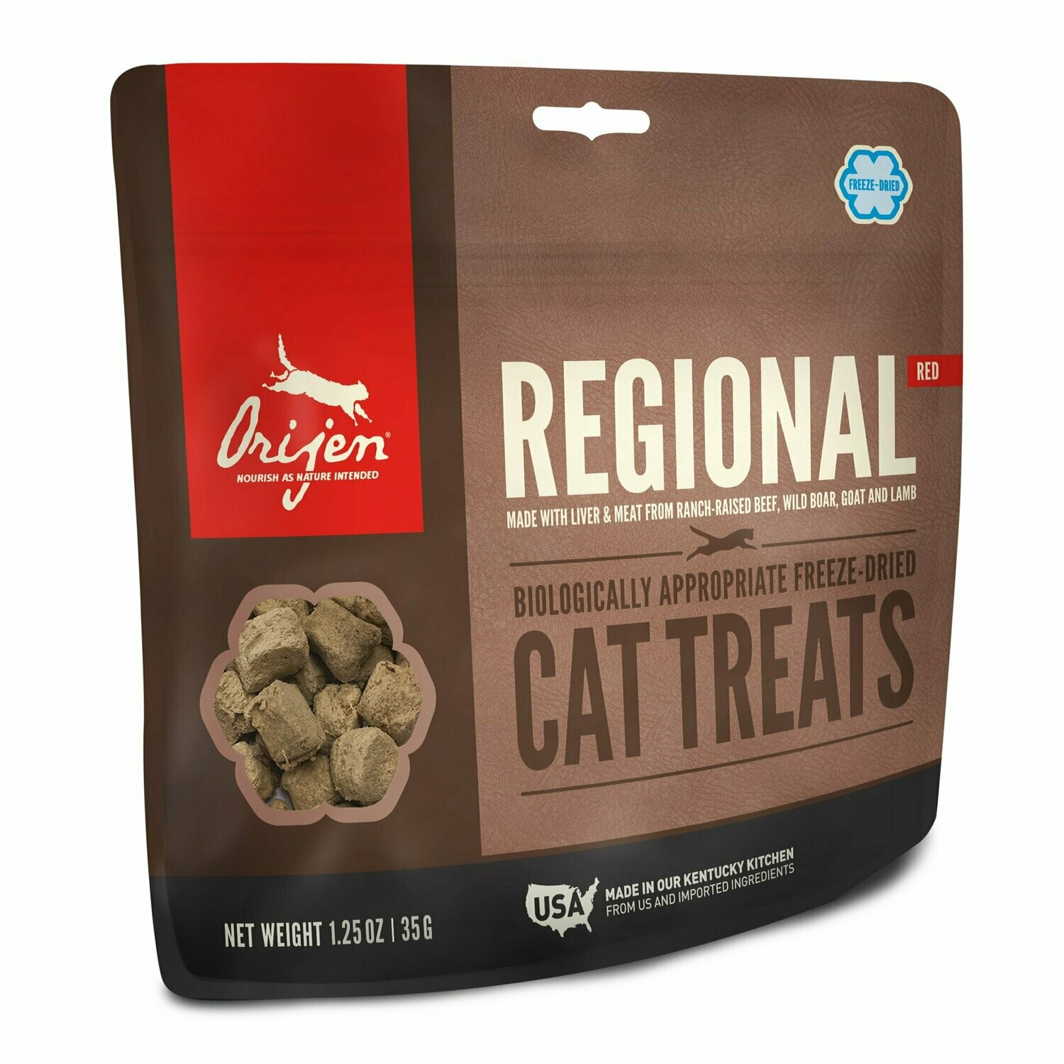 **BOGO** Orijen Freeze-Dried Regional Red Beef, Boar, Goat & Lamb Cat Treats 1.25 oz