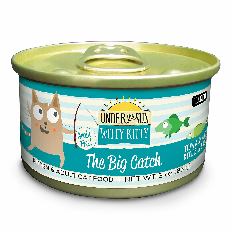 Under The Sun Witty Kitty The Big Catch Tuna & Sardine Recipe Wet Cat Food, 3 oz 24 COUNT (10/19) (A.P2)