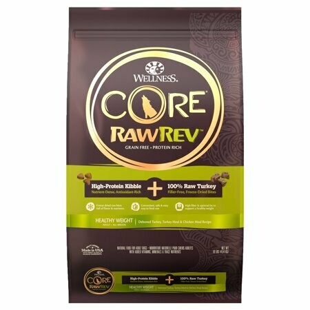 Wellness CORE RawRev Grain Free Natural Dry Dog Food, 10-Pound Bag (10/19) (A.M1)