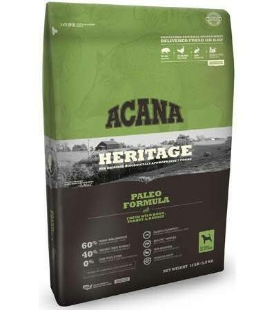 Acana Heritage Paleo Dry Dog Food (12 Oz) (11/19)