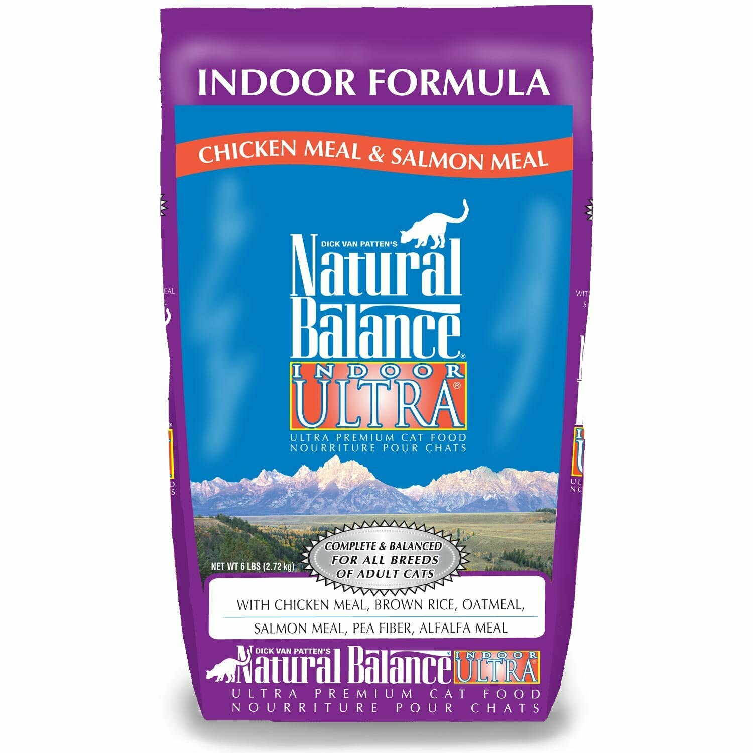 Natural Balance Indoor Ultra Chicken Meal & Salmon Meal Formula Dry Cat Food, 15 LBS (7/19) (A.R4)