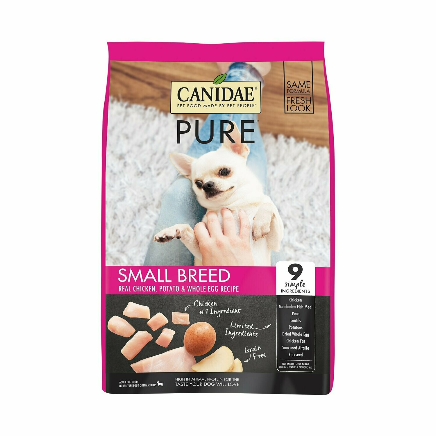 Canidae Pure Fields Grain-Free Fresh Chicken Small Breed Dry Dog Food, 12 lb