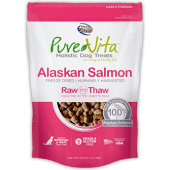 **BOGO** PURE VITA ALASKAN SALMON FREEZE-DRIED DOG TREATS 2.4 OZ (4/19) (L.A5)