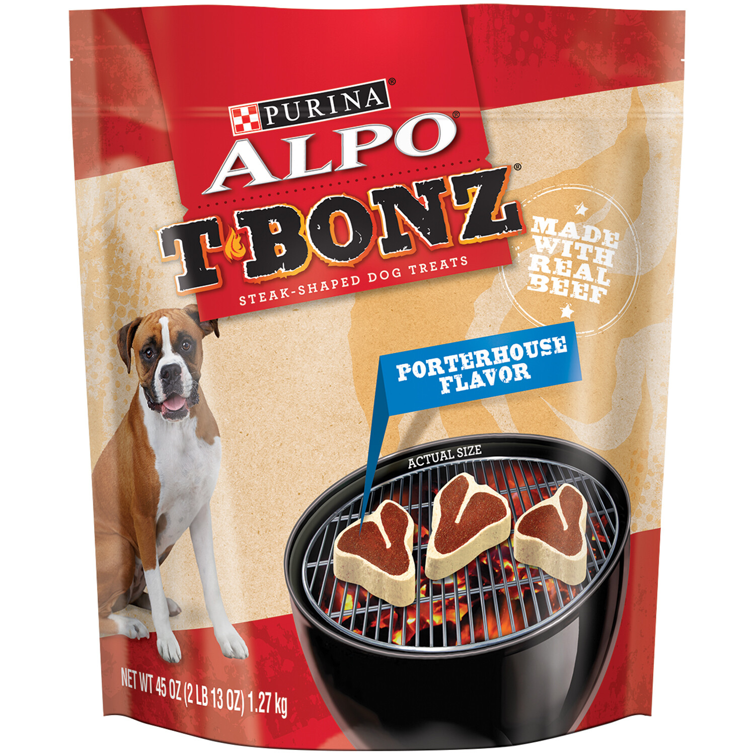 ALPO T-Bonz Porterhouse Flavor Dog Treats, 45 oz