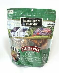 American Farms Variety Pack Ears And Bones 7pc (12/17) (T.F2)