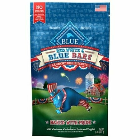 **BOGO** Blue Red, White And Blue Bars Seasonal Dog Treats 8-oz (7/19) (T.D12/D13/D14)