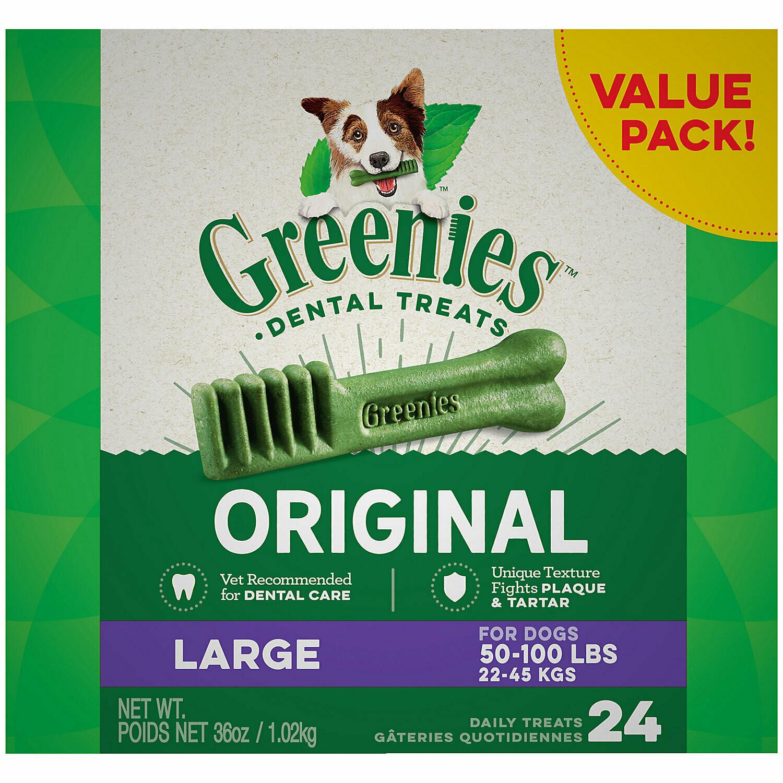 Greenies Dental Chews Mega Treat Pak Large Dog- 18 Oz (5/19) (T.SINGLES)