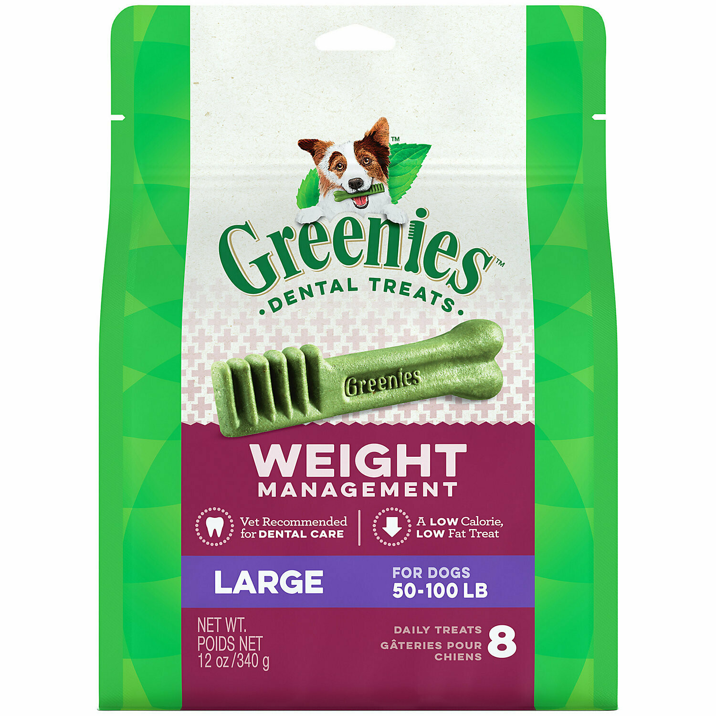 Greenies Weight Management - LARGE (8 Bones) 12oz (5/19) (T.B4)