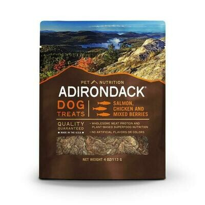 Adirondack dog treats salmon, chicken and mixed berries made in the USA adult dog treats 4 ounces (3/19)