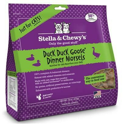 Stella And Chewy's Freeze-dried Duck Duck Goose Cat Dinner, 3.5 Oz Bag (9/19) (T.C1)