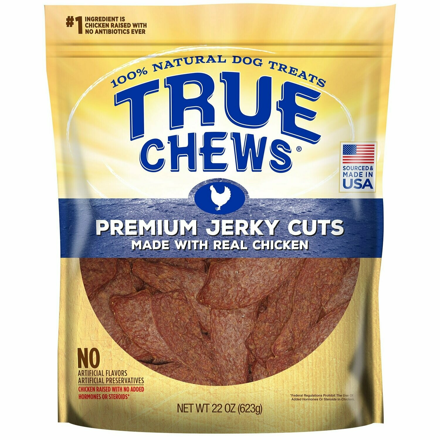 True Chews Premium Jerky Cuts Made with Real Chicken Natural Dog Treats, 22 oz. (5/19) (T.SINGLES)