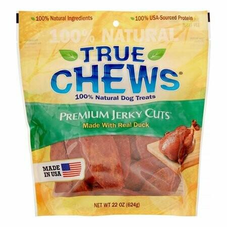True Chews Premium Jerky Cuts Made with Real Duck Dog Treats, 22 Oz. (2/19) (T.B11)