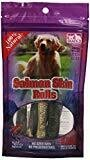 WILD PACIFIC Snack 21 6-pack Salmon Skin Rolls For Dogs Gift (N/D) (T.E14)