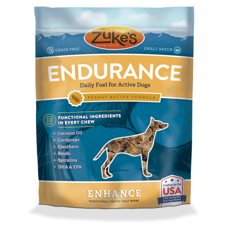 Zuke's Enhance Endurance Peanut Butter Formula Dog Treats 5 oz (2/19) (T.D2-JD)