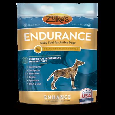 Zuke's Enhance Endurance Peanut Butter Formula Dog Treats 5 oz (2/19) (T.D2-JD)