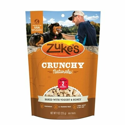 Zuke's Crunchy Naturals Baked with Yogurt & Honey Dog Treats 9 oz (12/19) (T.E2)