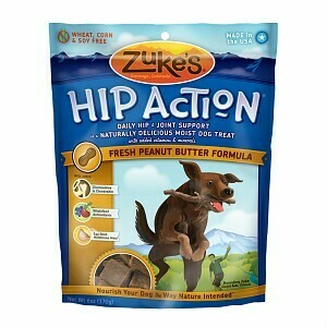 Zuke's Hip Action Peanut Butter & Oats Recipe Dog Treats - 6 Oz. Pouch (12/19) (T.C2)