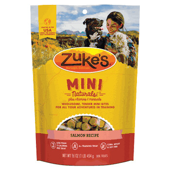 Zuke's Mini Naturals Salmon Recipe Dog Treats 1 lb (12/19) (T.D4)