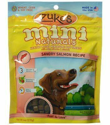 ZUKE'S MINI NATURALS SALMON RECIPE DOG TREAT 6 OZ (10/19) (T.B10)