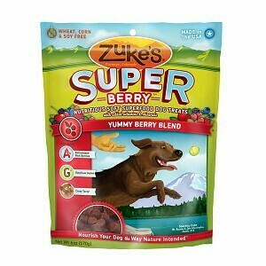 Zuke's Super All Natural Nutritious Soft Superfood Dog Treat Yummy Berry Blend 6 oz (12/19) (T.E14)