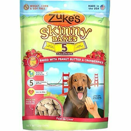 Zuke's Skinny Bakes 5 Calorie Dog Treats - Peanut Butter & Cranberry 12 oz (10/18) (T.B1)