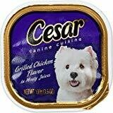 CESAR Canine Cuisine Grilled Chicken Flavor Dog Food Trays 3.5 Ounces 24 count