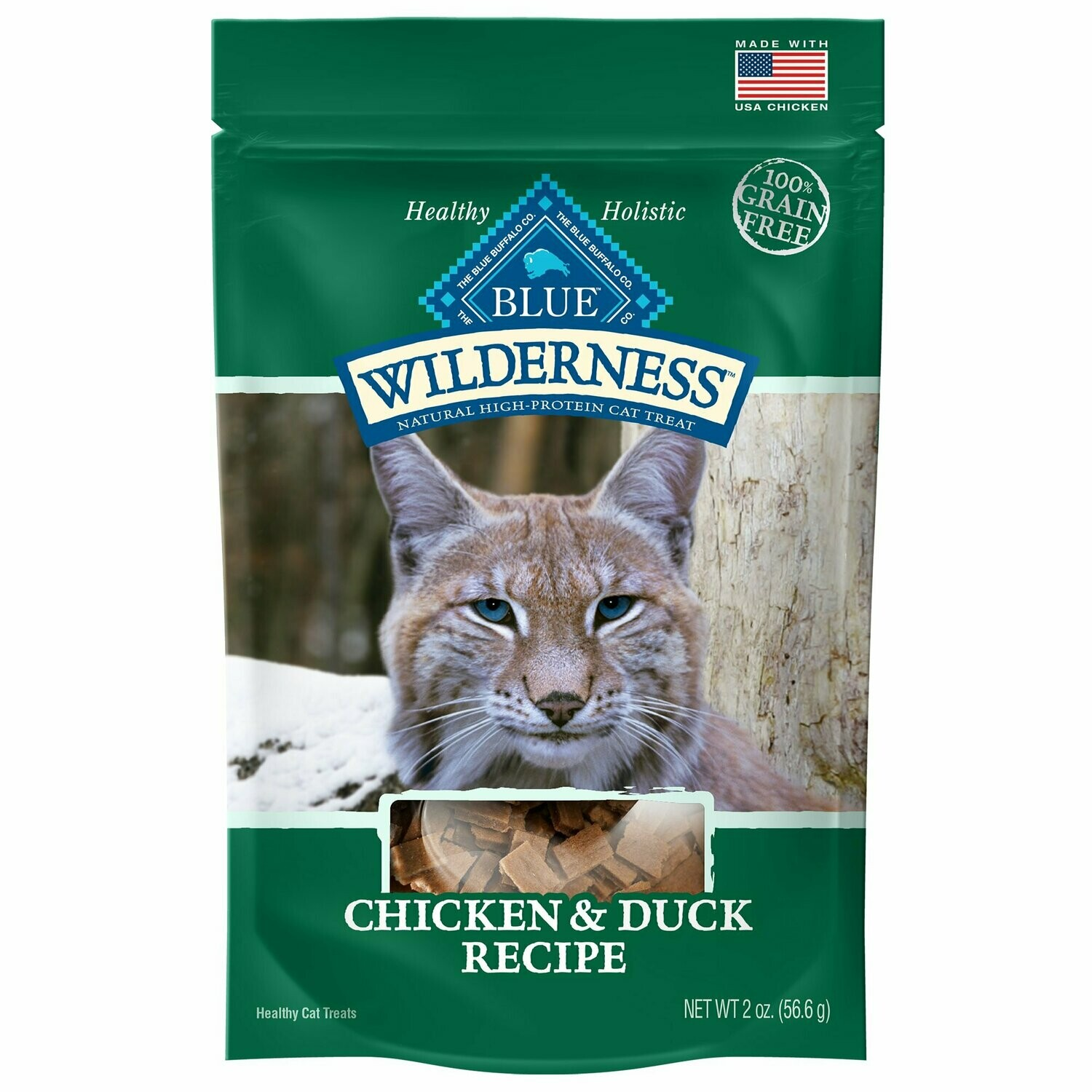 Blue Buffalo Wilderness Chicken & Duck Grain Free Cat Treats, 2 oz (1/20) (T.A1)