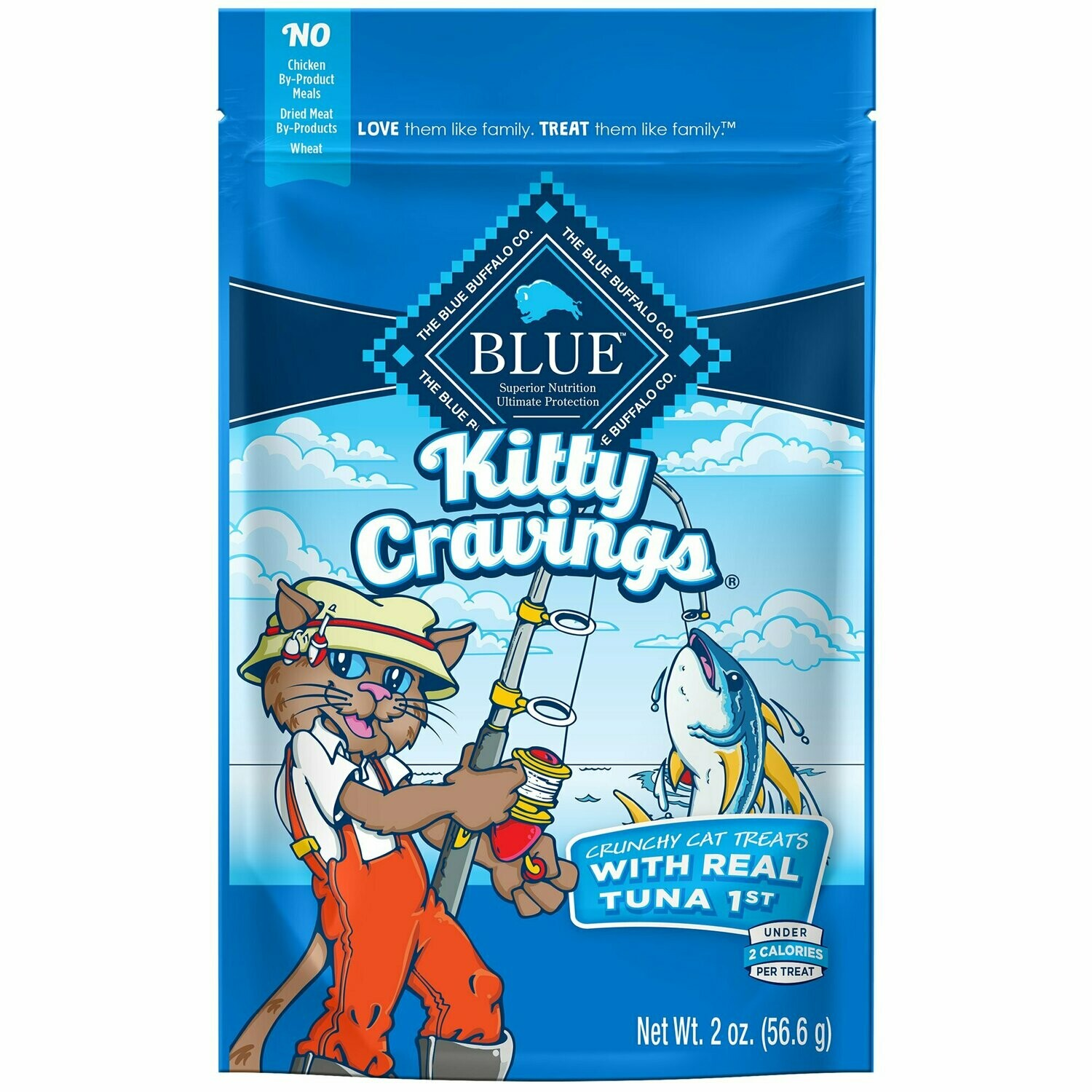 Blue Buffalo Kitty Cravings Tuna Flavor Cat Treats, 2 oz (3/19) (T.E12)