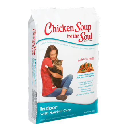 Chicken Soup for the Soul Indoor with Hairball Care Dry Cat Food 5 lb