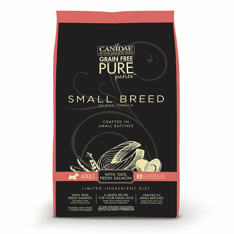 CANIDAE Grain-Free PURE Petite Small Breed Salmon Formula, 3 lbs