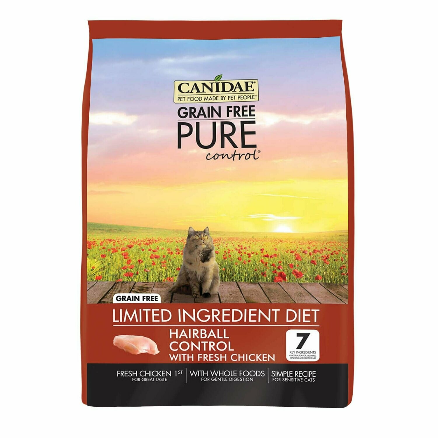 Canidae Pet Foods  Pure Grain Free Hairball Control Chicken Food 2.5 lbs (3/19) (A.O6)