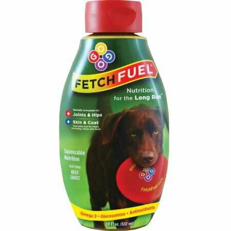 FETCH FUEL Glucosamine Chondroitin For Dogs Liquid Joint Health Supplement Beef Flavored (11/19) (T.E14)