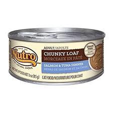 Nutro Chunky Loaf Grain-free Salmon & Tuna Cat Food - 3 Oz 24 Count (1/20) (A.H2)