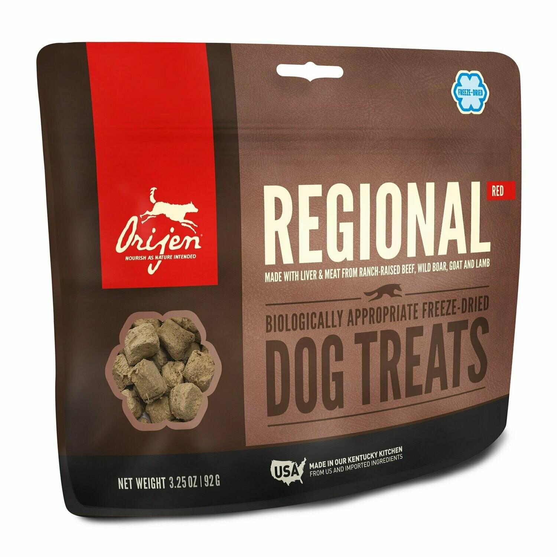 Orijen Regional Red Biologically Appropriate Freeze-Dried Dog Treats, 3.25 Oz (2/19) (L.A6)