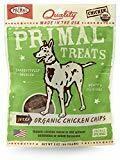 Primal Pet Foods Grain-Free Jerky Organic Chicken Chips Dry Dog Treat, 3 oz (2/20) (T.A6)