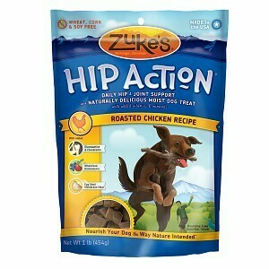 Zuke hip action natural tender treats with hip and joint support plus glucosamine/chondroitin vitamins and minerals chicken recipe 16 ounces (10/19) (A.I1)