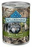 Blue Buffalo wilderness bayou blend with alligator and catfish natural wet food for dogs hundred percent green free 12.5 ounces 1 COUNT (1/19)