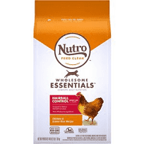 Nutro wholesome essentials hairball control farm-raised chicken and brown rice recipe for cats 3 pounds (1/20)