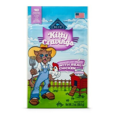10 FUR $1.00 Blue Buffalo Kitty Cravings With Real Chicken Crunchy Cat Treats - 2 oz  (9/19)