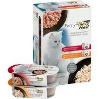 Purina fancy feast natural gourmet variety pack cat food natural flaked skipjack tuna entree and delicate broth  natural white meat chicken entree (3/20)