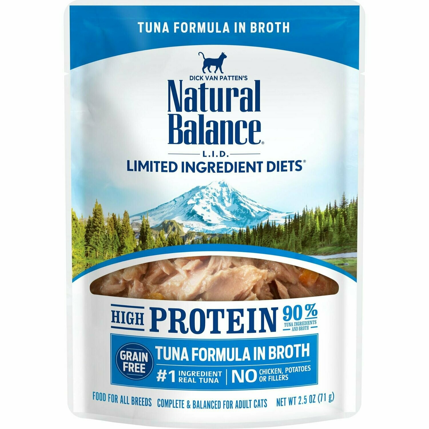 Natural balance limited ingredients high-protein tuna formula in broth for cats adult cats 2.5 ounces 24 counts (10/19)