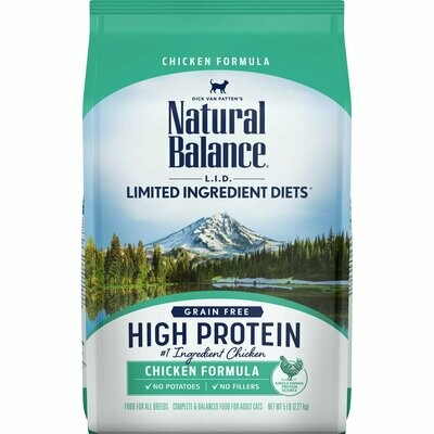 Natural balance limited ingredient diets grain free high protein chicken formula complete and balanced food for adult cats 5 pound (12/19)
